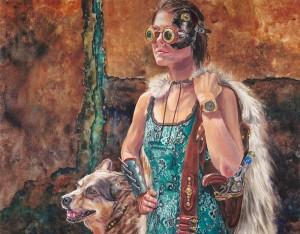 huntress_brendakidera_25x32_watercolor_large